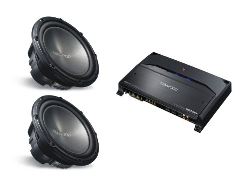 2 KENWOOD KFC-W3012 (12 inch 1200 Watt Subwoofers) & KENWOOD KAC-9105D (Mono Channel Amplifier) PACKAGE DEAL