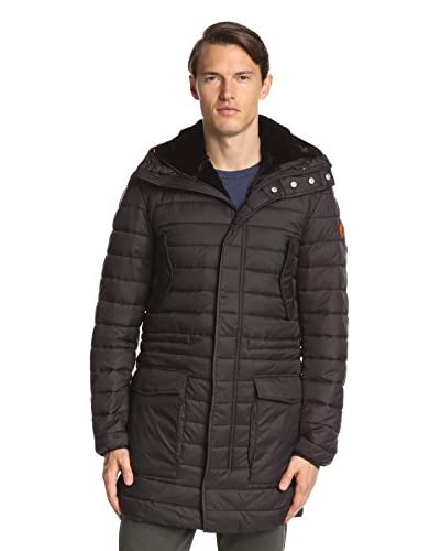 Save the Duck Men's Giga Coat with Removable Faux Fur Lining