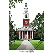 University of Kentucky Campus Images Lithograph