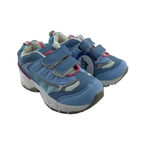 Girls Skate Trainer Hiking Running Trainers Kids Velcro School Shoes Size 10-2