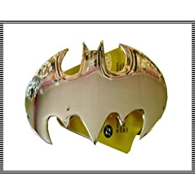 Silver Cutout Batman Insignia Belt Buckle