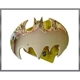 Silver Cutout Batman Insignia Belt Buckle