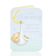 A New Baby Grandson Birthday Card