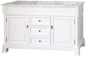 Bellaterra Home 205060-D-WH 60-Inch Double Sink Vanity, Wood, White