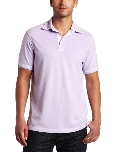 Joseph Abboud Men's Short Sleeve Polo Shirt, Lilac, XX-Large