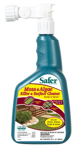 Safer Brand 5324 Moss and Algae Killer and Surface Cleaner, 32 oz. Hose Sprayer