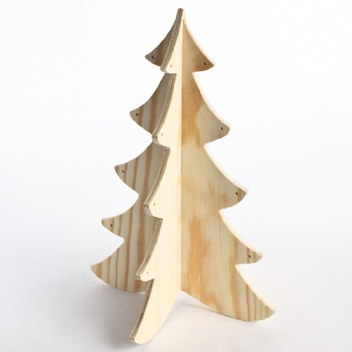 "Darice Home for the Holidays - Wood Pine Tree - Ready to Decorate - Each Measures 12"" Tall"