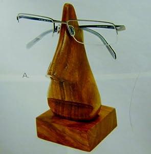 Fair Trade Hard Carved Hand Polished Wood Eye Glass Holder