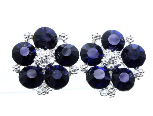 EARRING CLIP ON CRYSTAL STONE Montana Fashion Jewelry Costume Jewelry fashion accessory Beautiful Charms