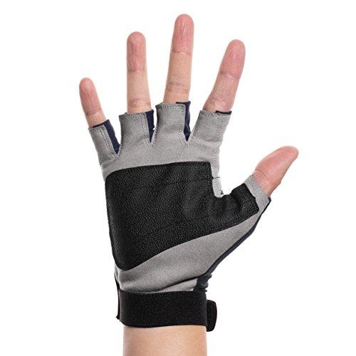 The fishing tree sun protection fingerless gloves large for Fingerless fishing gloves