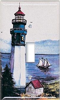 Art plates lighthouse switch plate single rocker for Lighthouse switch plates