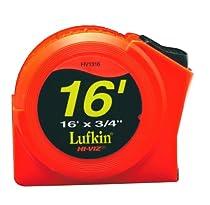 Lufkin HV1316 3/4-Inch x 16 Hi-Viz½ Orange Power Return Tape Measure
