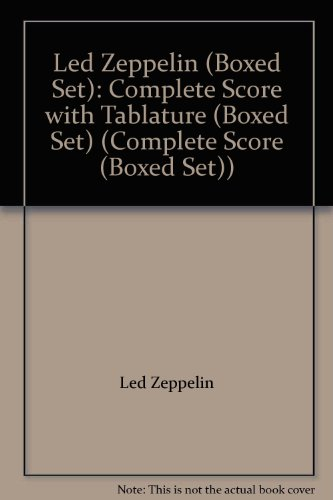 Led Zeppelin (Boxed Set): Complete Score With Tablature (Boxed Set) (Complete Score (Boxed Set))