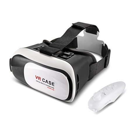 3D VR Glasses for Iphone 6 With Remote Control Suitable for Iphone,Android 4.7~6.0 Inch screen