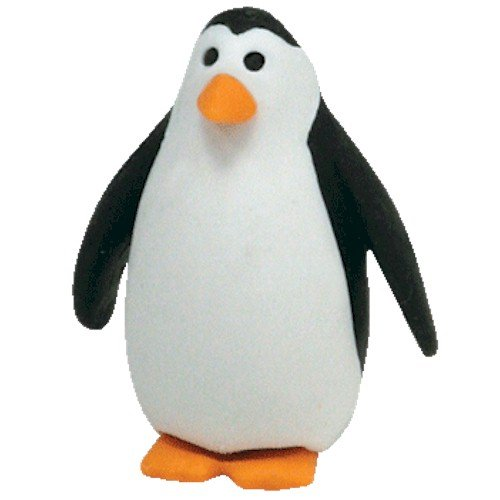 Ty Beanie Eraserz - Waddle the Penguin - 1