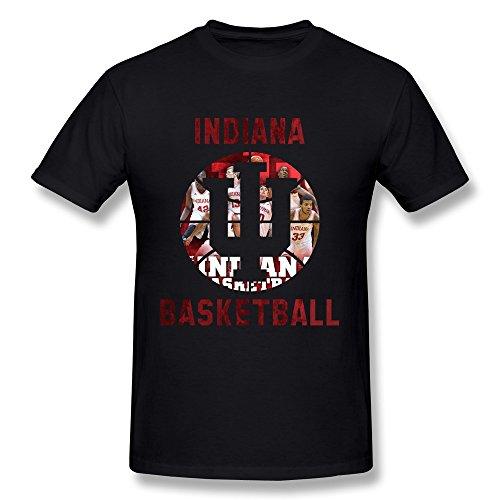 HTAD Men's Indiana University Bloomington Basketball Team Short Sleeve Tee Black Size S