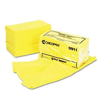 Chicopee 0911 24-Inch Length by 24-Inch Width Masslinn Yellow Dust Cloth 50-Pack ( Case of 2)