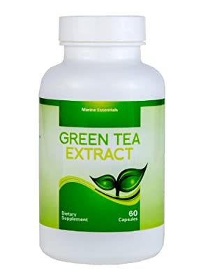 Green Tea Extract | Concentrated Fish Oil | 4 Month Supply of Green Tea Supplements | Decaffeinated Fat Burner Capsules That Can Accelerate Weight Loss - By Marine Essentials