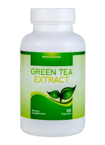 Green Tea Extract - Concentrated Fish Oil - 1 Month Supply Of Green Tea Supplements By Marine Essentials - Decaffeinated Fat Burner Capsules That Can Accelerate Weight Loss - Countless Benefits - 60 Day Money Back Guarantee