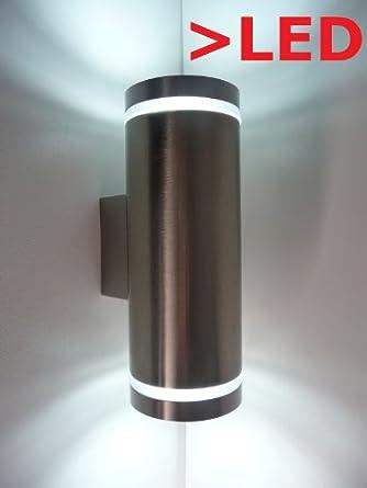 led wandleuchte up down 230v 6watt au en kaltwei warmwei inkl leuchtmittel warmwei db711. Black Bedroom Furniture Sets. Home Design Ideas