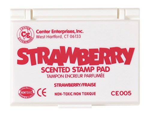Center Enterprise CE005 Strawberry Scented Stamp Pads, Hot Pink