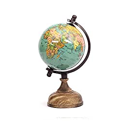 Casa Décor Enamel Finish Wooden Base World Globe