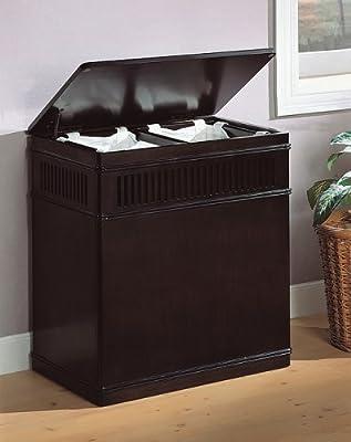 Coaster Home Furnishings Laundry Hamper, Cappuccino