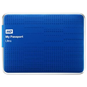 WD My Passport Ultra 1TB USB 3.0 Portable Drive with Auto and Cloud Backup - Blue