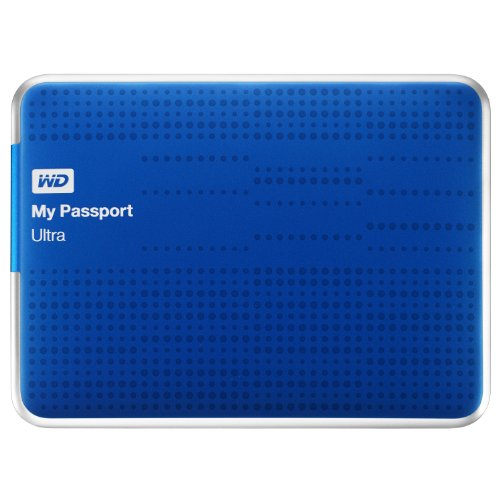 Wd My Passport Ultra 500 Gb Portable External Usb 3.0 Hard Drive With Auto Backup - Blue
