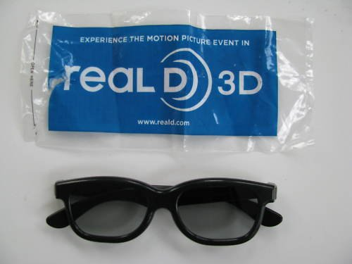 Genuine Sealed Real-D Digital 3d Glasses for Cinema - For Resident Evil: Afterlife 3D, dispicable me 3D, the last airbender and Toy Story 3 3D