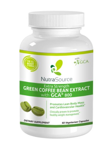 Nutrasource Green Coffee Bean Extract 800 With Gca Natural Weight Loss Supplement - 60 Count