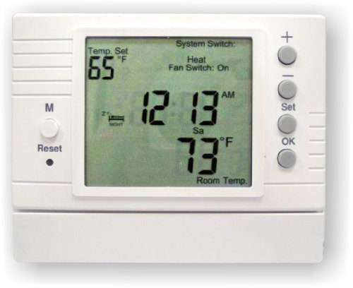 Azel D-502F: PROGRAMMABLE DIGITAL THERMOSTAT FOR HYDRONIC RADIANT FLOOR HEATING (Hydronic Radiant Heating compare prices)