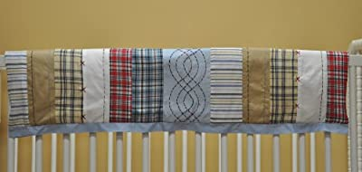 Plaids/Strps Boys Crib Rail Protector from Bacati