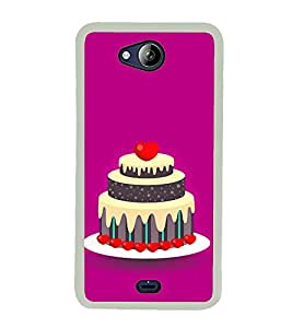 Cake Clipart 2D Hard Polycarbonate Designer Back Case Cover for Micromax Canvas Play Q355