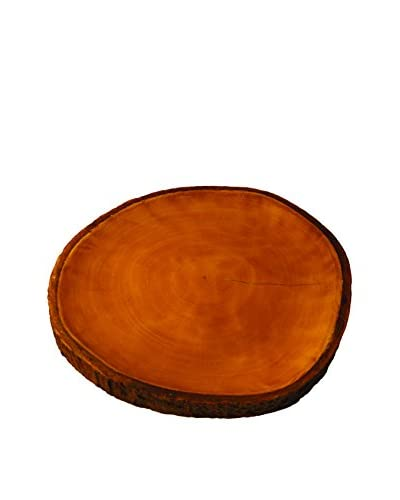 Be Home Mango Wood Platter with Bark, Brown
