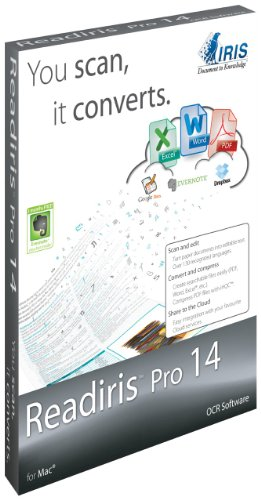 I.R.I.S Readiris v.14.0 Pro OCR for Mac - 1 User (Apple Word Processing Software compare prices)