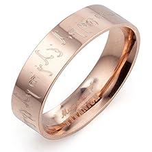 buy Gemini Custom Groom Or Bride Flat Court Comfort Fit Rose Gold Titanium Wedding Ring Width 6Mm Us Size 10 Valentine'S Day Gift