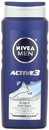 NIVEA Men Active3 Body Wash for Body,…
