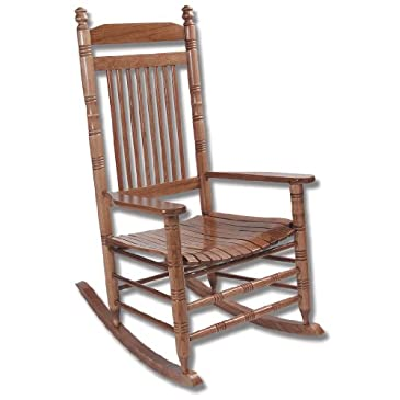 Ready-To-Assemble Slat Rocker- Oak