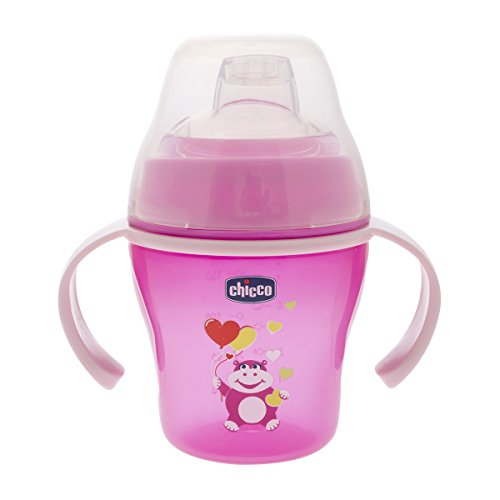 Chicco 00006823120000 Soft Cup Tazza, Rosa/Blu, 200ml, 6m