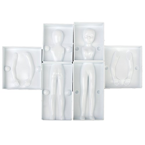 6pcs Fondant Cake Mold Sugarcraft Decoration 3D Woman Body Figure Parts (Body Part Candy Mold compare prices)