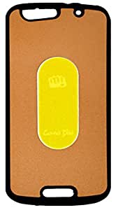 Golden Dual Tone Velvet Feel Soft Corner with Hard Back Cover Case For Micromax Canvas Gold A300