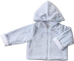 Angel Dear Baby Girls\' Fuzzy Jacket (Baby) - Blue - 0-6 Months