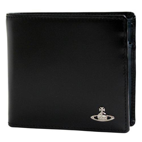 ヴィヴィアン ウエストウッド Vivienne Westwood 二つ折り財布 ブラック MAN BICOLORED HORIZONTAL 33065 【並行輸入品】