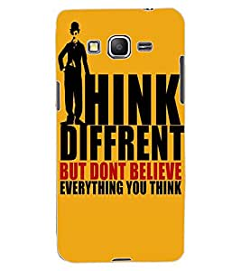 ColourCraft Quote Design Back Case Cover for SAMSUNG GALAXY GRAND PRIME DUOS TV G530BT