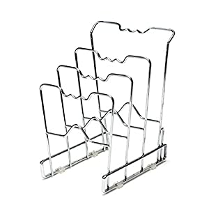 Seville Classics 4-Tier Pan Organizer Rack, Chrome (2-Pack)