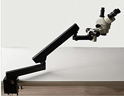 GOWE 3.5X-90X STEREO ZOOM MICROSCOPE+ARTICULATING STAND Arm Base+SZM0.5X WD165mm+SZM2.0X WD 30mm+10X Eyepieces Microscope Accessories