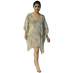 Etti Be Trendy Women's Kaftan (ES200_Brown_Free Size)