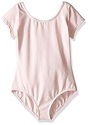 Capezio Little Girls\' Classic Short Sleeve Leotard,Pink,S (4-6)