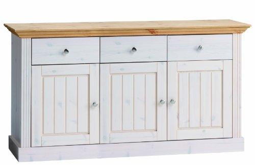 Steens-Furniture-3170250288001F-Anrichte-gebeiztes-Top-78-x-145-x-465-cm-Kiefer-massiv-wei-lasiert